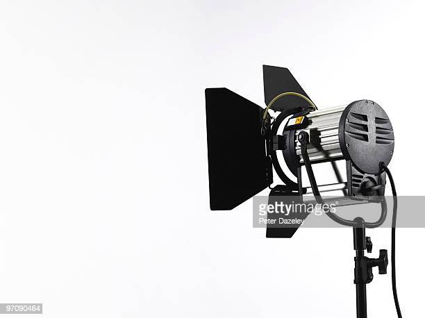Photographic film TV spotlight rear view