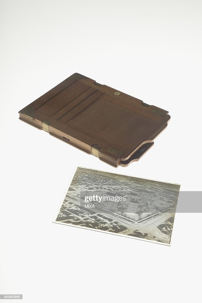 Photographic plate and holder : Stock Photo