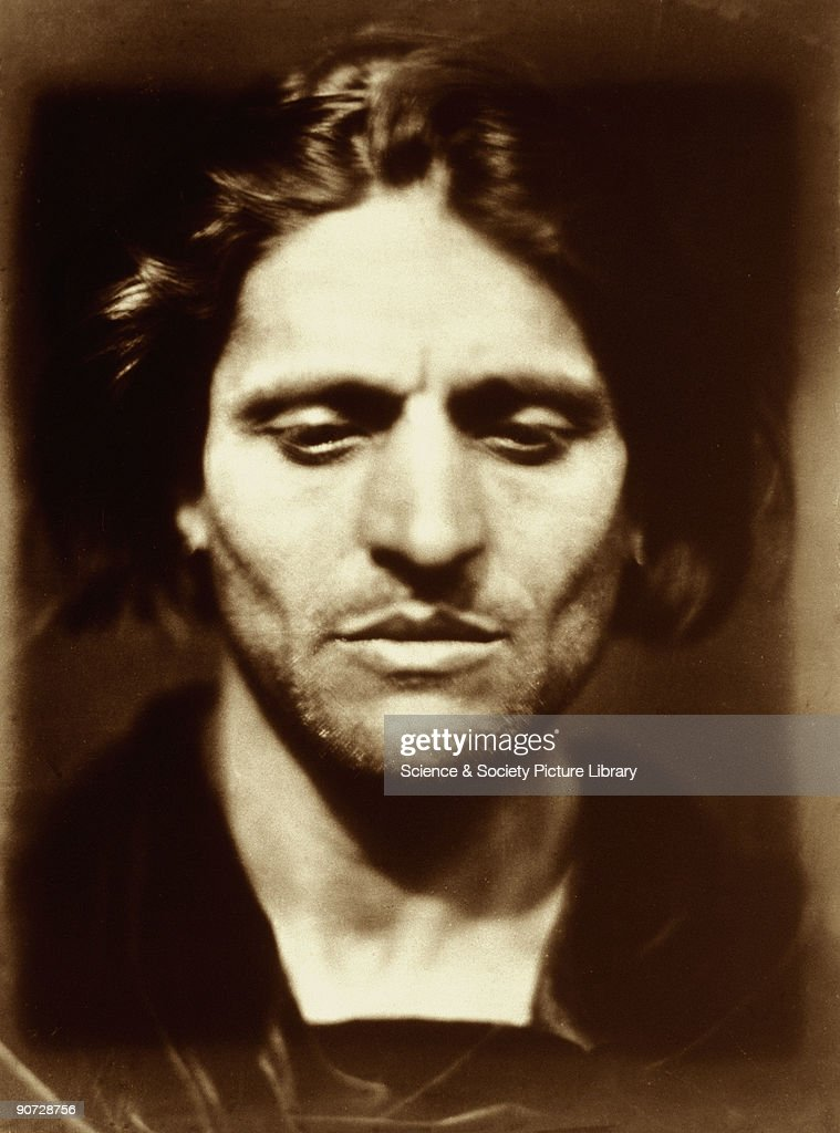 Photographic portrait of an Italian man possibly an artist's model called Alessandro Colorossi by Julia Margaret Cameron Cameron's photographic...