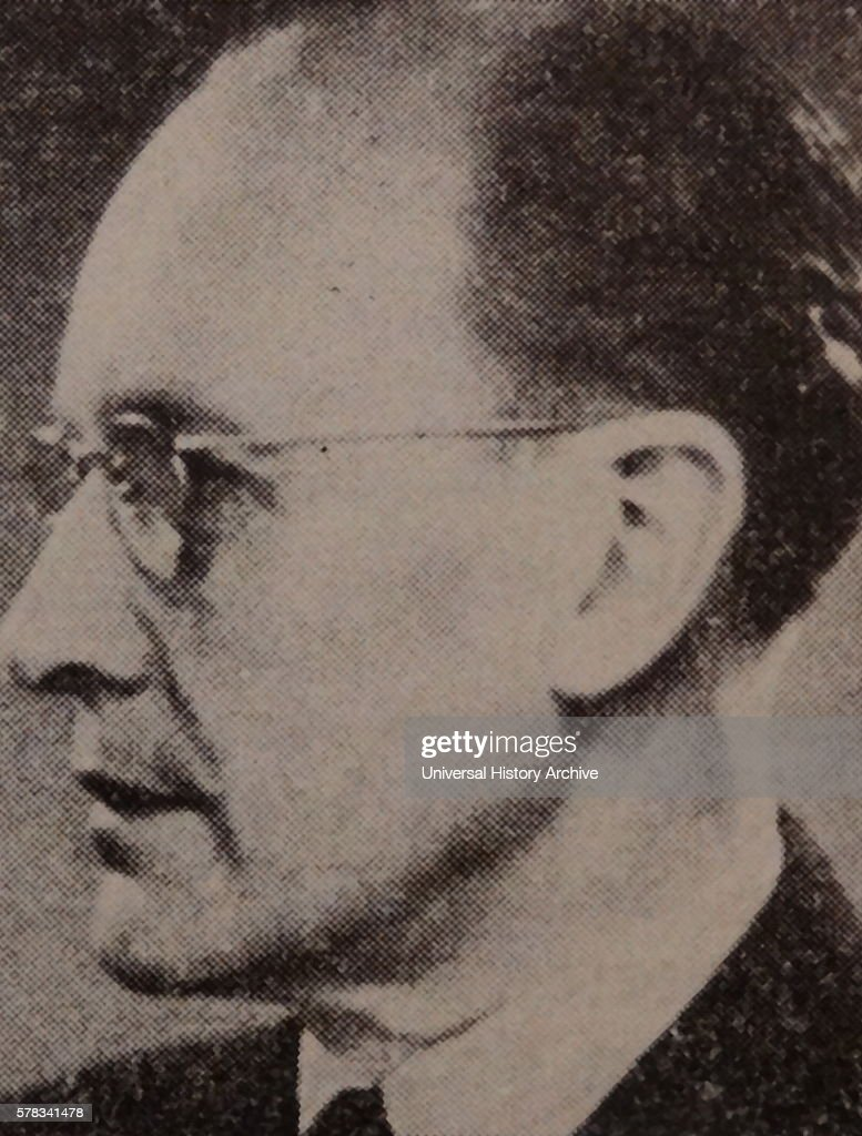 Photographic portrait of Anders Orne a Swedish journalist and politician Dated 20th Century