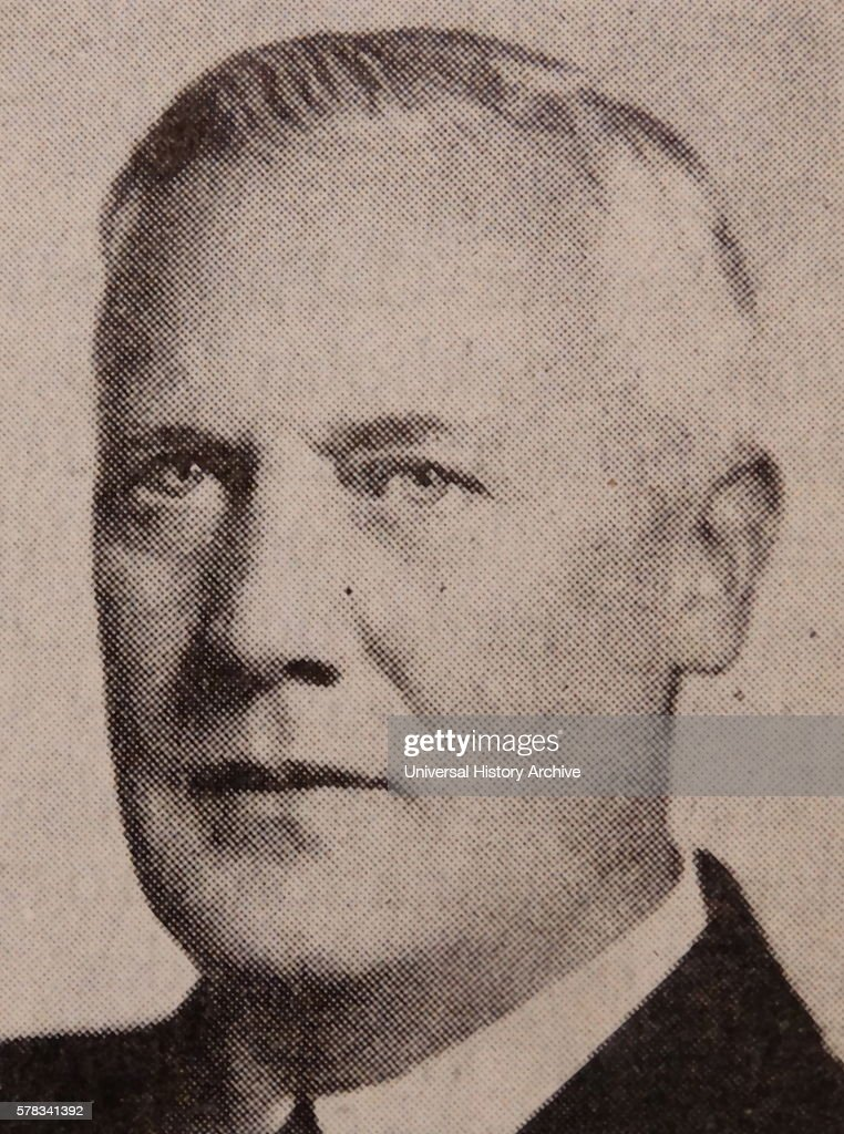Photographic portrait of Axel WennerGren a Swedish entrepreneur Dated 20th Century