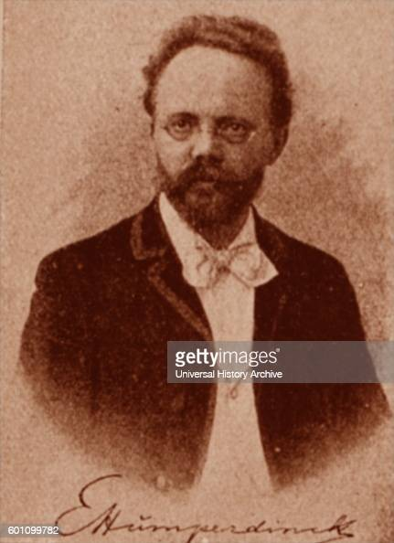 Photographic portrait of Engelbert Humperdinck a German composer best known for his opera Hansel and Gretel Dated 20th Century