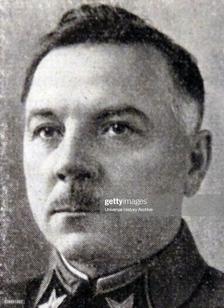 Photographic portrait of Kliment Voroshilov Soviet Military Officer and Politician Dated 20th Century