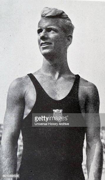 Photographic portrait of Marshall Wayne an American diver competing during the 1936 Berlin Olympics Dated 20th Century