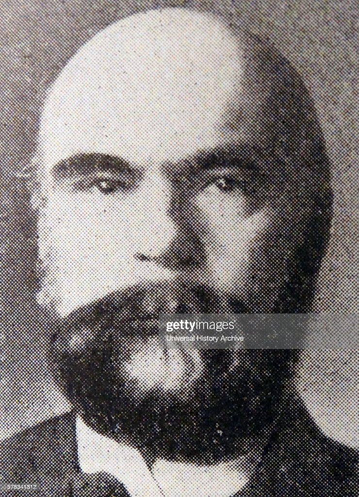 Photographic portrait of Paul Verlaine a French poet Dated 19th Century