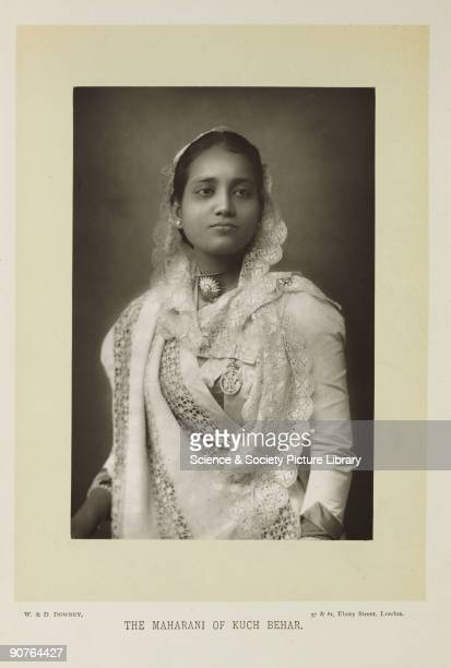 A photographic portrait of Sunity Devi the Maharani of Kuch Behar India taken by W and D Downey in 1893 This photograph was taken during a visit to...