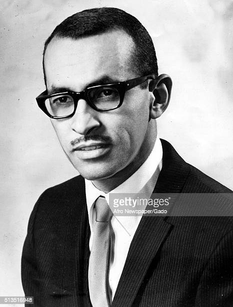 A photographic portrait of Wyatt Tee Walker wearing a suit and thickrimmed black glasses he is a pastor and national civil rights leader he was a...