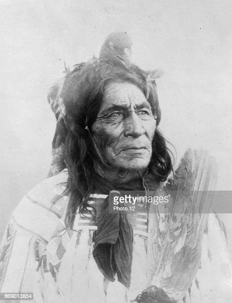 Photographic print of 6 Pool Long Otter of the Crow Reservation Photographed by Richard Throssel a Cree photographer who documented life on the Crow...