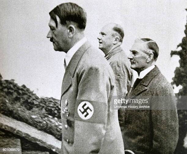 Photographic print of Adolf Hitler a German politician who was the leader of the Nazi Party Chancellor of Germany and Fuhrer of Nazi Germany Joachim...