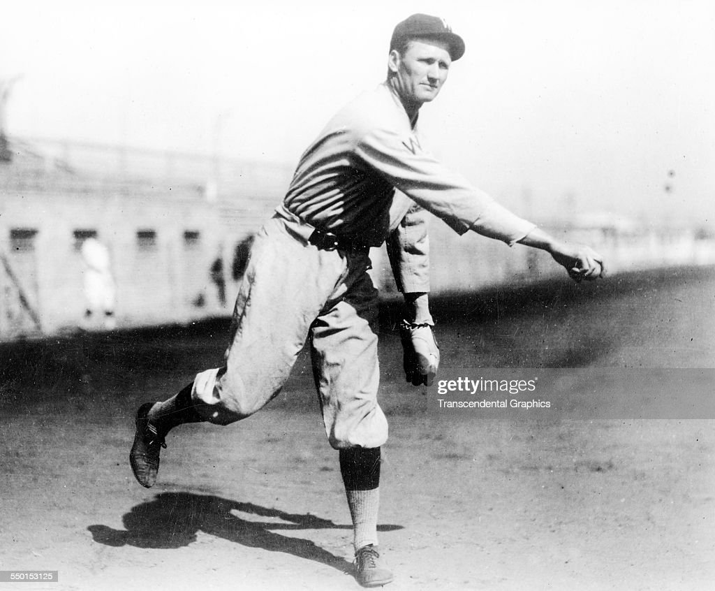Photographic print of Walter Johnson working out before a game at Shibe Park Philadelphia Pennsylvania circa 1915