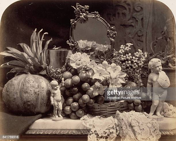 A photographic still life taken in 1860 by Roger Fenton