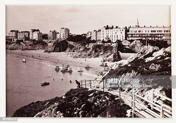 A photographic view of the seafront and town of Tenby in Pembrokeshire Wales published by Francis Bedford Co Bedford was a prolific and wellrespected...