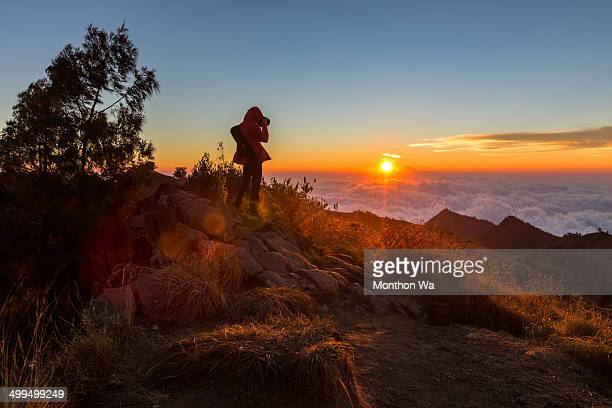 Photographing at Rinjani