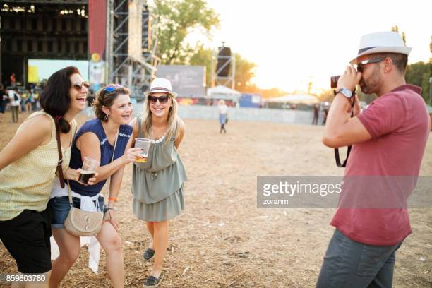 Photographing at summer festival