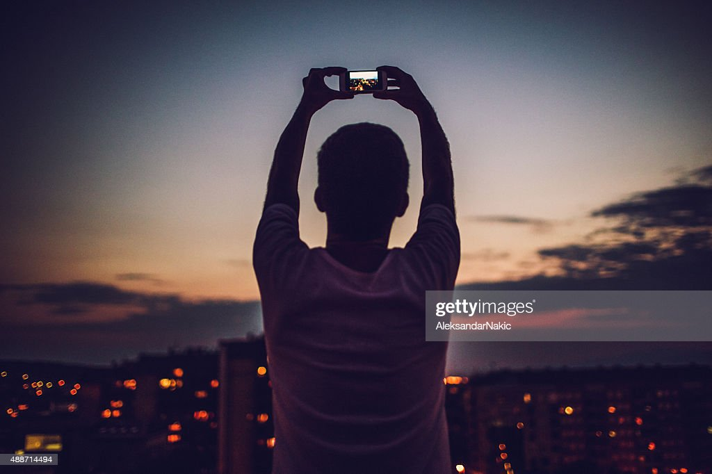 Photographing that perfect time of the day : Stock Photo