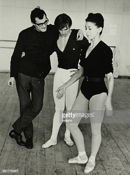 PhotographRudolf Nureyev and Margot Fonteyn with pianist in the rehearsal hall of the State Opera in Vienna About 1964 Eh titled and stamp 2 239 18...