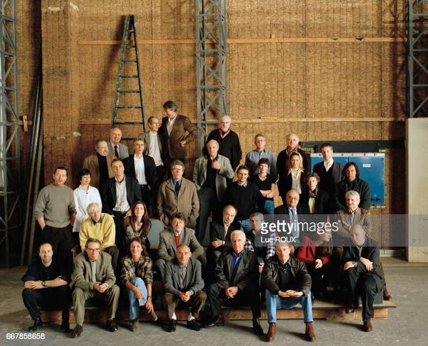 Photographs of French film directors and screenwriters were taken at the film studios of Boulogne on two different occations Present for the second...