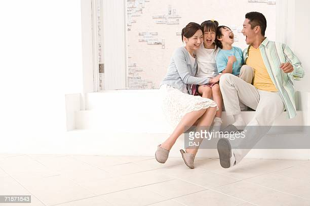 Photography of parents and children, Low Angle View