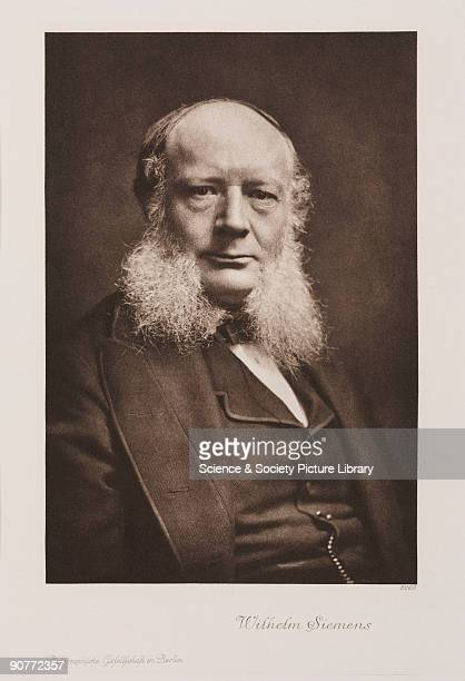 Photogravure after a photograph of Sir Charles William Siemens originally Karl Wilhelm Siemens Germanborn engineer and pioneer of the steel industry...