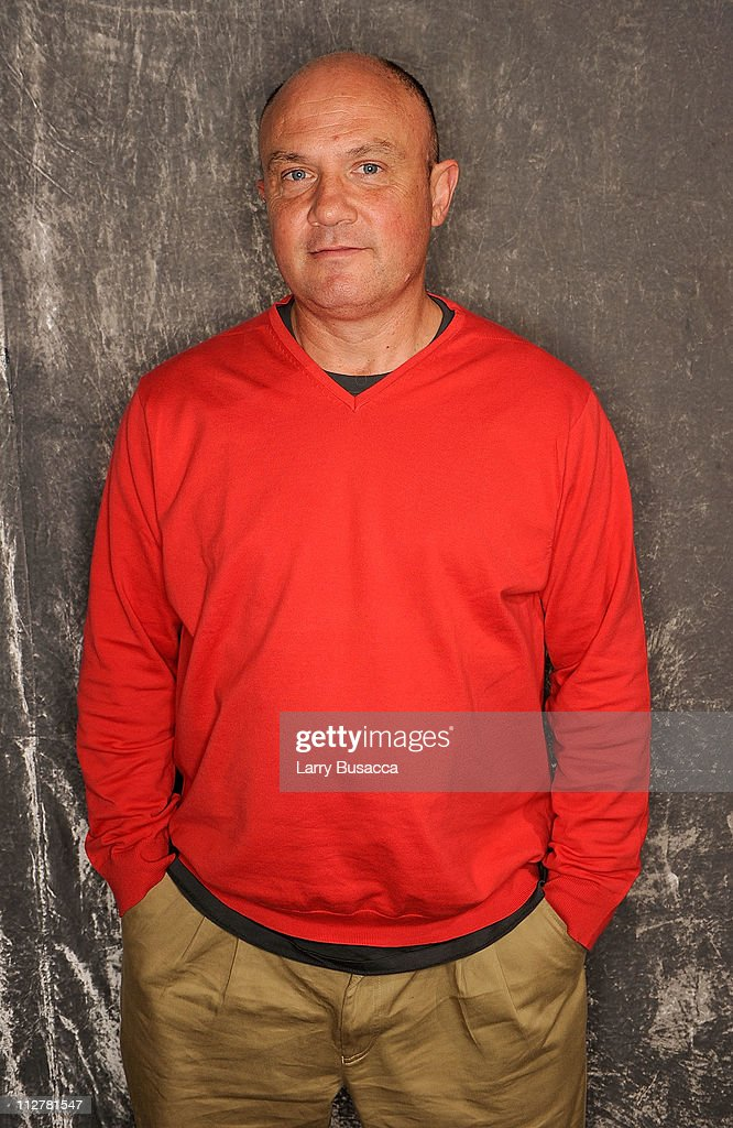 Photojournalist Greg Marinovich visits the Tribeca Film Festival 2011 portrait studio on April 21, 2011 in New York City.