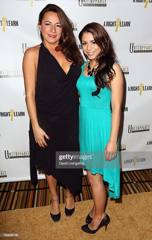 Photojournalist Selma Fonseca (L) and actress Sy Franco attend the 4th Annual Unstoppable Gala at the Beverly Wilshire Four Seasons Hotel on March 16, 2013 in Beverly Hills, California.