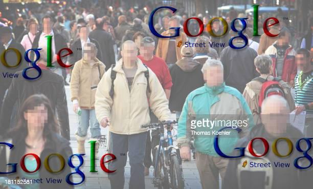 Photomontage on Google Street View