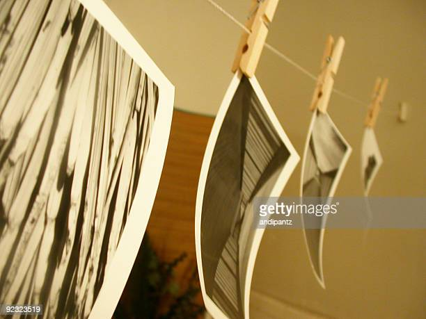 photos hanging to dry