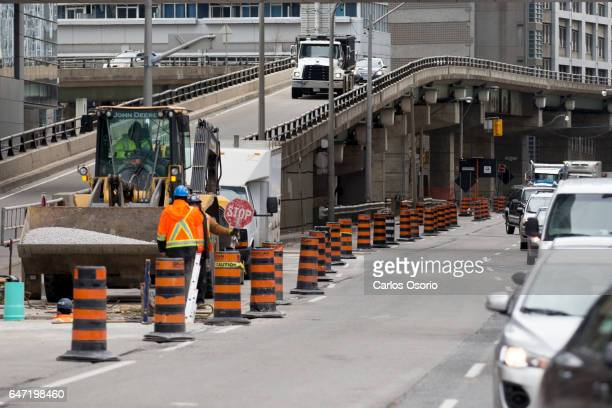 TORONTO ON MARCH 2 Photos of the Yonge Bay offramp from the eastbound Gardiner ExpresswayMarch 2 2017