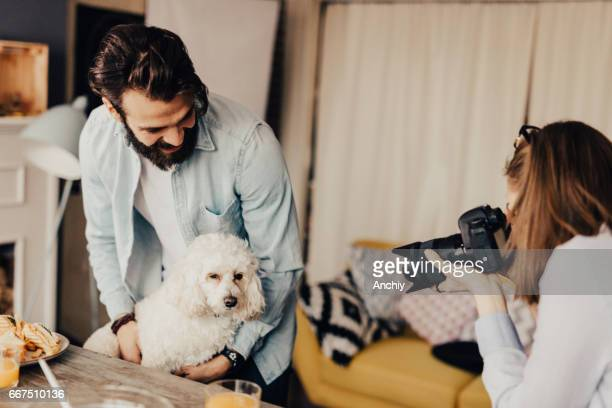 Photoshoot with a dog