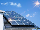 Photovoltaic panels on the roof
