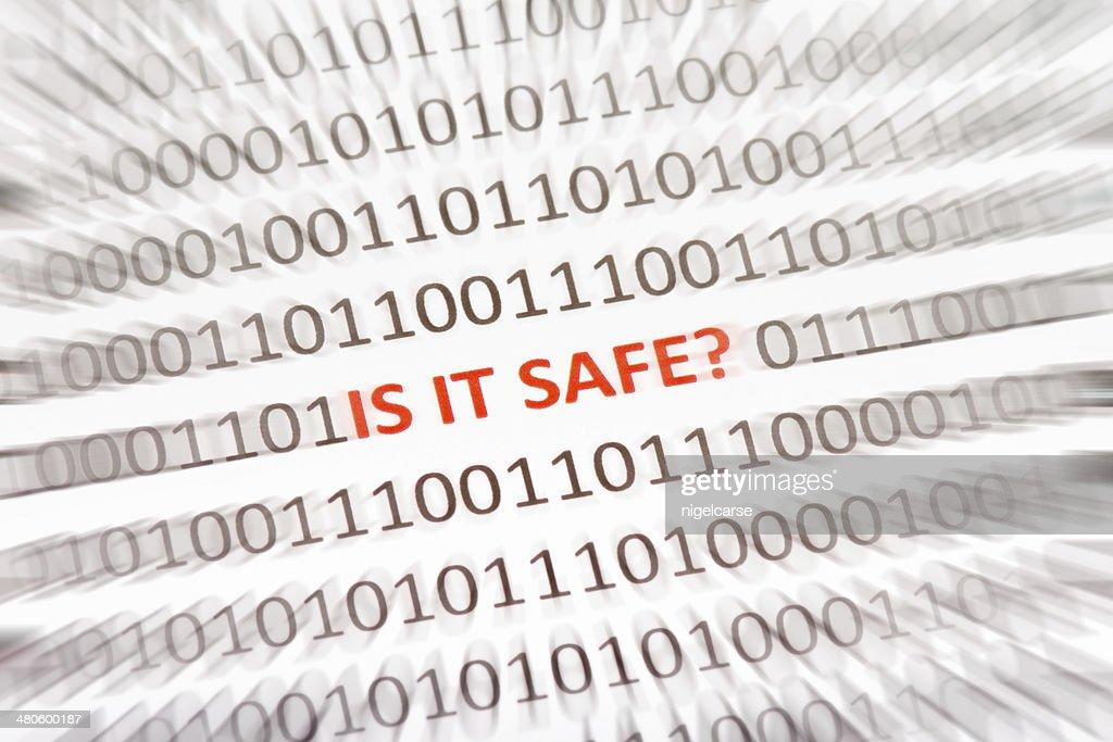 Phrase Is It Safe inside binary code : Stock Photo