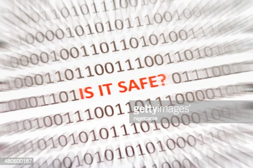 Phrase Is It Safe inside binary code : Stock Photo