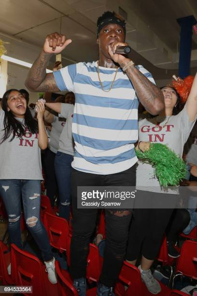 Phresher attends the 'Senior 100' Pep Rally at New Heights Academy Charter School on June 9 2017 in New York City