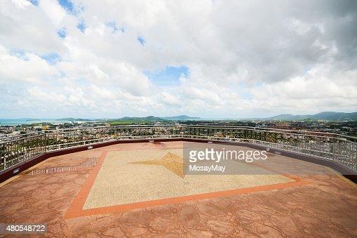 Cidade de Phuket Khao os intervalos dos ponto de vista : Foto de stock