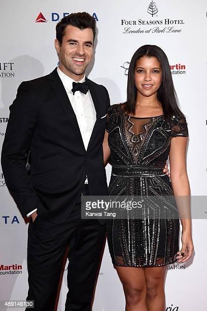 Phylicia Jackson and Steve Jones attend the 5th Global Gift Gala hosted by honorary chair Eva Longoria at the Four Seasons Hotel on November 17 2014...
