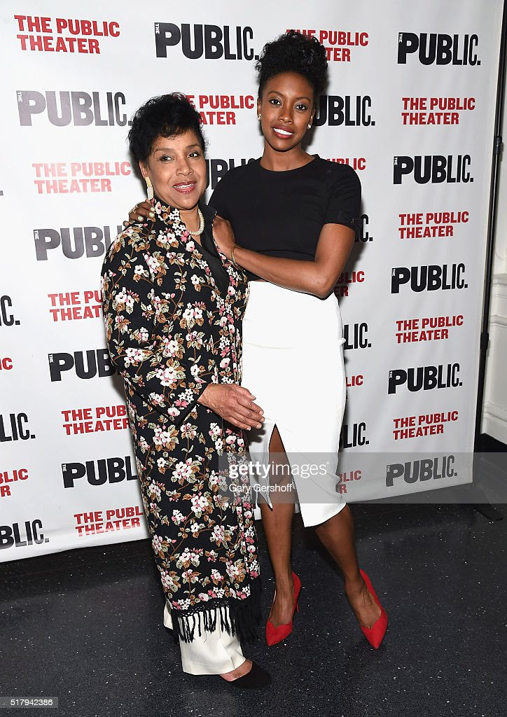 Phylicia Rashad and daughter Condola Rashad attend the 'Head Of Passes' opening night celebration at The Public Theater on March 28 2016 in New York...
