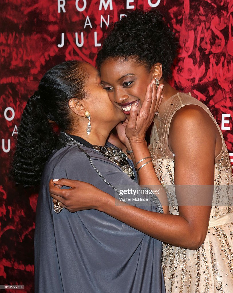 Phylicia Rashad and daughter Condola Rashad attend the 'Romeo And Juliet' Broadway Opening Night after party at The Edison Ballroom on September 19...