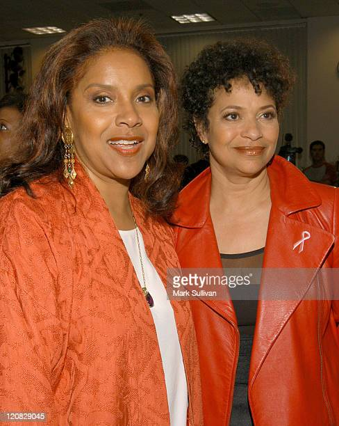 Phylicia Rashad and Debbie Allen during Launch Of 'Disappearing Act' Public Service Announcements at The Academy Of Television Arts Sciences in North...