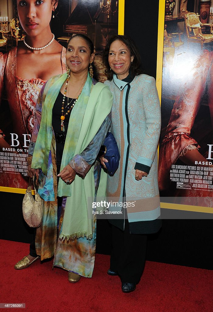Phylicia Rashad and Vivian Ayers attend the 'Belle' premiere at The Paris Theatre on April 28, 2014 in New York City.