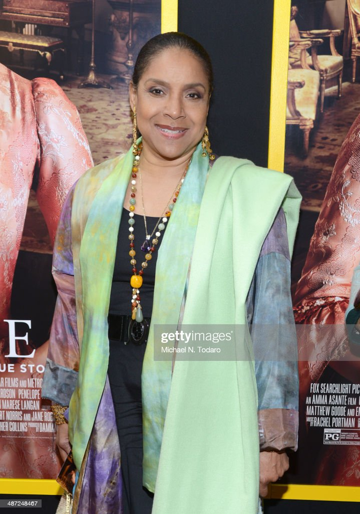<a gi-track='captionPersonalityLinkClicked' href=/galleries/search?phrase=Phylicia+Rashad&family=editorial&specificpeople=206924 ng-click='$event.stopPropagation()'>Phylicia Rashad</a> attends the 'Belle' premiere at The Paris Theatre on April 28, 2014 in New York City.