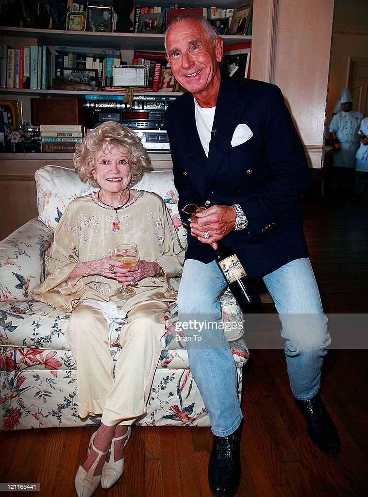 Phyllis Diller and Prince Frederic von Anhalt attend Zsa Zsa Gabor and Prince Frederic 25th wedding anniversary party on August 14, 2011 in Los Angeles, California.