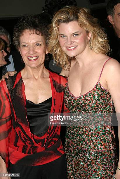 Phyllis Frelich and Heather Tom during Opening Night of 'Prymate' on Broadway at The Longacre Theatre/ Tavern on The Green in New York NY United...