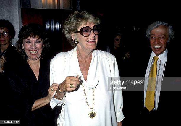 Phyllis Newman Elaine Stritch and Adolph Green during Phyllis Newman Opening Night May 15 1989 at Rainbow Room in New York City New York United States