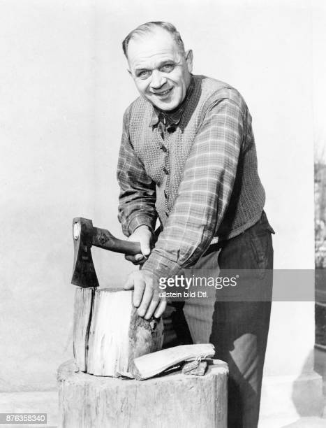 Physical activity housework man woodchopping Hans Walter