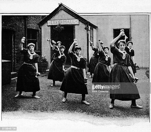 Physical drill at Canning Town Women's Settlement London circa 1901 The Canning Town Women's Settlement Cumberland Road was founded in 1892 by FW...