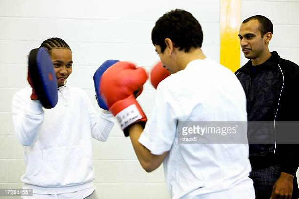 physical education: boxers training