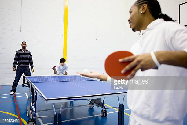physical education: table tennis service