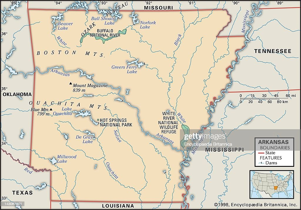 Physical Map Of Arkansas Pictures Getty Images