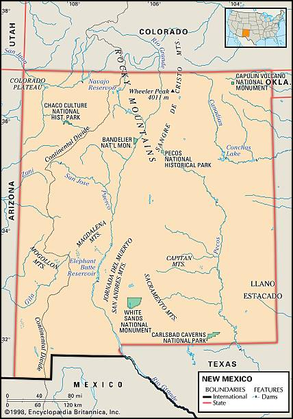 Physical Map Of New Mexico Pictures Getty Images - Colorado physical map