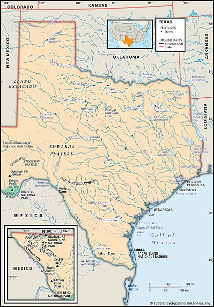Physical Map Of Texas Pictures Getty Images - Colorado physical map